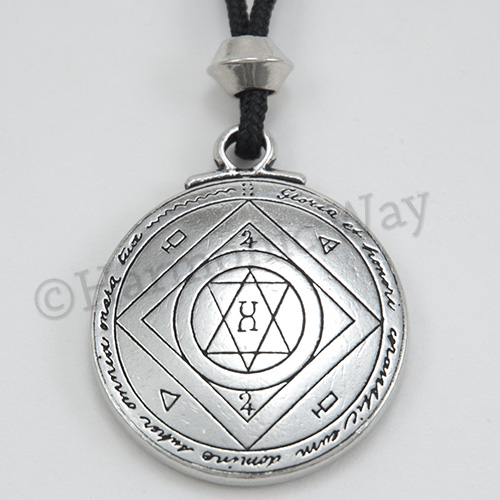 Talisman for extreme good luck pendant solomon seal of magical not actual size please refer to description for size mozeypictures Gallery
